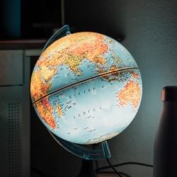 Photo of an illuminated globe